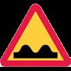 Varningsmärke, ojämn väg