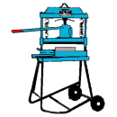 Plattklippmaskin, hydraulisk