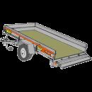 Släpvagn med tipp, totalvikt 750 kg, bromsad