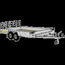 Släpvagn boggi för 1500 kg grävmaskin, bromsad