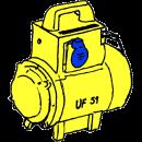 Omformare 220 V in - 115 V ut (miniutförande)