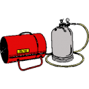 Byggtork, gasoldriven -23 kW