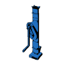 Domkraft, vevtyp med klack 1,7-2,5 ton