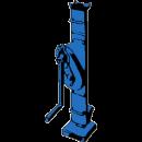 Domkraft, vevtyp med klack 7,0-10 ton