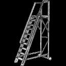 Trappstege 8 steg, plattformshöjd 1,6 meter